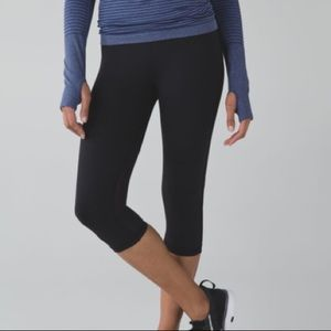 Lululemon Real Quick Crop *Full-On Luxtreme in Black